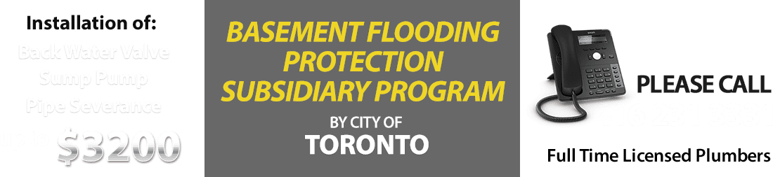 Toronto Basement Flooding Protection Subsidy Program