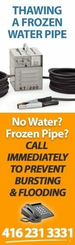 Toronto Frozen Pipe Repairs